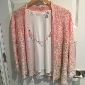 NWT pink sweater and tank
